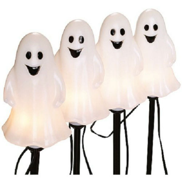 Sylvania V37135-88 Halloween Lighted Ghost Pathway Markers, 4-Piece