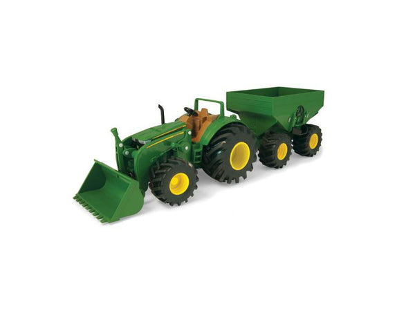 John Deere 46260 Monster Treads Tractor with Wagon & Loader Toy Set