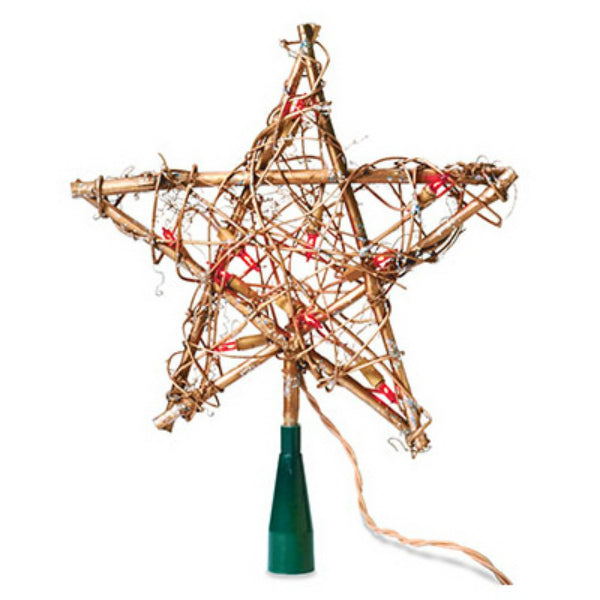 Sylvania V49377-88 Lighted Grapevine Star Christmas Tree Topper, 10-Lights