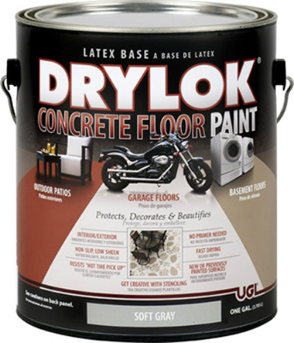 Drylok® 22613 Concrete Floor Paint, Soft Gray, 1 Gallon