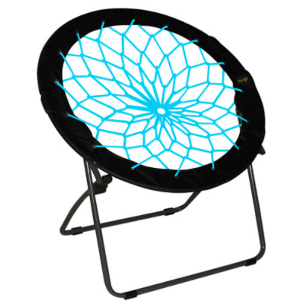 Zenithen IC544S-TV04 Bunjo Bungee Folding Dish Chair, Black & Teal
