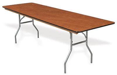 "Palmer Snyder 100 Series Rental Grade Banquet Table, 30"" x 96"", Walnut Stain"