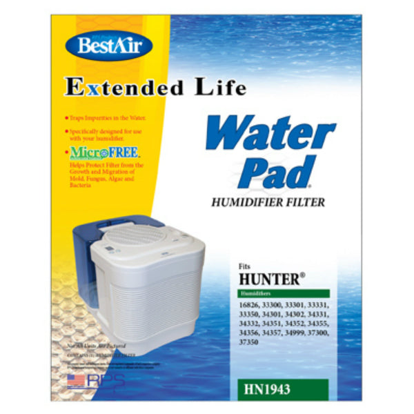 BestAir HN1943 Extended Life Water Pad For Hunter Humidifer Filter