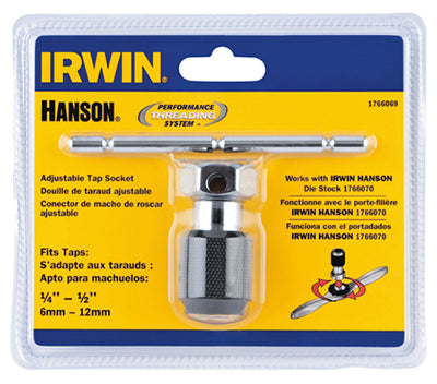 Irwin Tools 1766069 Hanson® Self Aligning T-Handle Tap Wrench, 1/4 To 1/2""