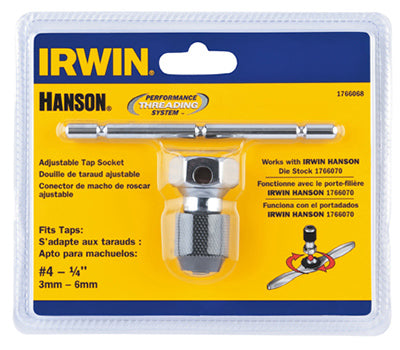 Irwin Tools 1766068 Hanson® Self Aligning T-Handle Tap Wrench, #4 To 1/4""