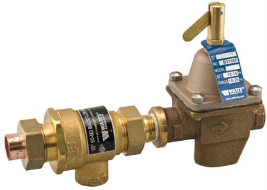 "Watts® 1/2-B911S-M3 Combination Fill Valve and Backflow Preventer, 1/2"", Bronze"