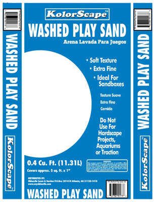 KolorScape 40105130 Washed Play Sand, 0.4 Cu.ft., White