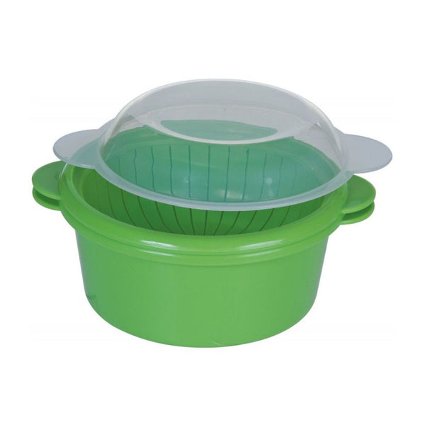 Prepworks® GMMC-460 Mini Microwave Steamer, Green with Clear Lid, 2-Cup