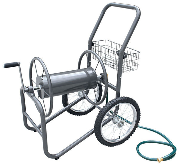 Liberty Garden 880 Two Wheel Hose Cart, Durable Powder Coat, Bronze Color