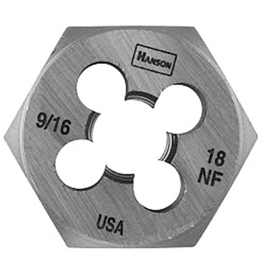 "Irwin Tools 6849 Hanson® 9/16""-18 NF Hexagon Fractional Die, 1-7/16"""