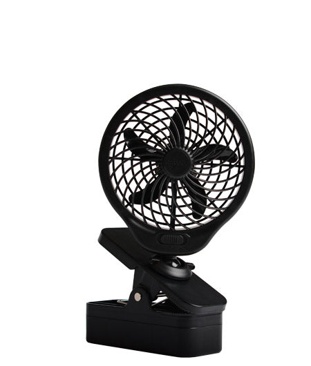 O2-Cool® FC05002 Portable Clip Fan, 2-Speed, Black