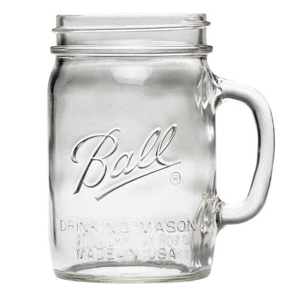 Ball 1440016010 Wide Mouth Glass Drinking Mason Jar, Clear, 24 Oz