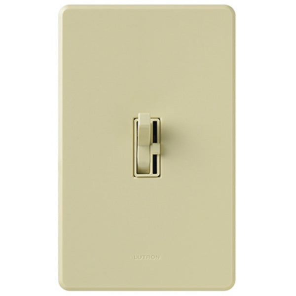 Lutron® TGCL-153PH-IV Toggler® CFL/LED Single-Pole/3-Way Toggle Dimmer, Ivory