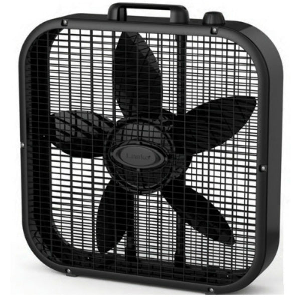 Lasko® B20401 Metal Box Fan, 3 Quiet Speeds, Black, 20""