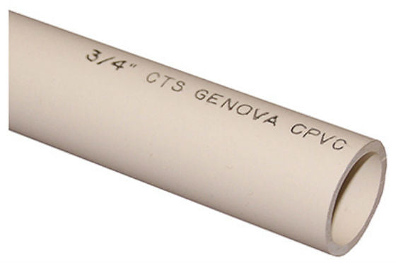 "Genova 50035 CPVC Water Pipe, 3/4"" x 5'"