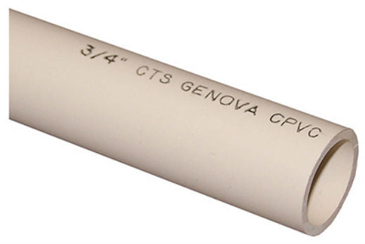 "Genova 500072 CPVC Water Pipe, 3/4"" x 2'"