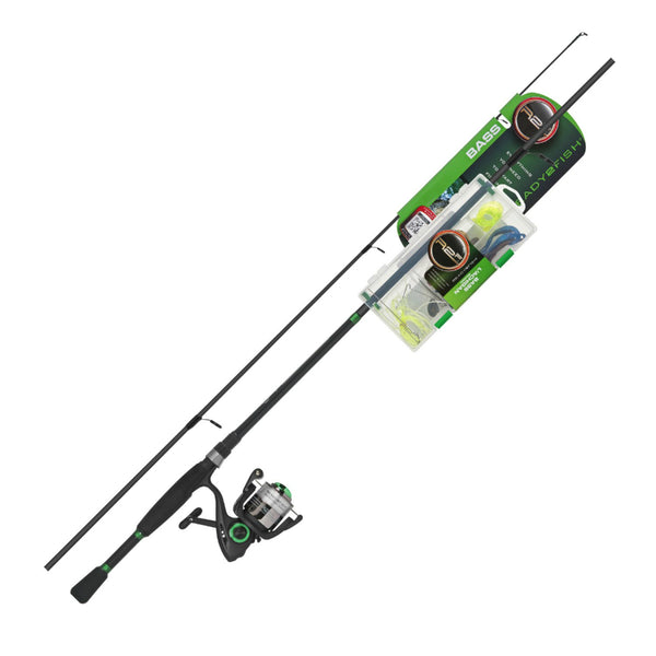 Ready 2 Fish R2F2-BA/S Bass Spinning Combo with Kit