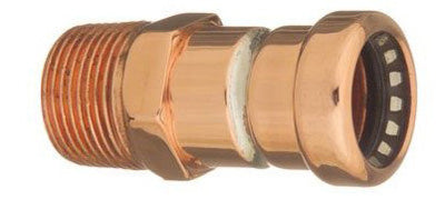 Mueller 650-103HC ProLine® Copper Push Fit Male Adapter, 1/2""
