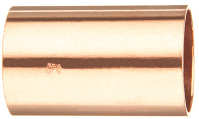 Mueller W61906 Streamline® Wrot Copper Coupling without Stop, 1""