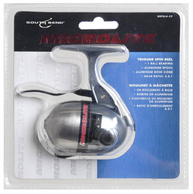 South Bend® MLSP/A-CP Microlite Trigger Spincast Reel