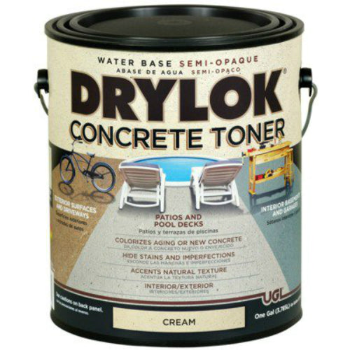 Drylok® 24213 Water Base Semi-Opaque Concrete Toner, 1-Gallon, Cream