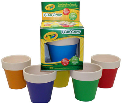 Crayola I Can Grow Chalkboard Planter & Complete Seed Starting Kit, 4+