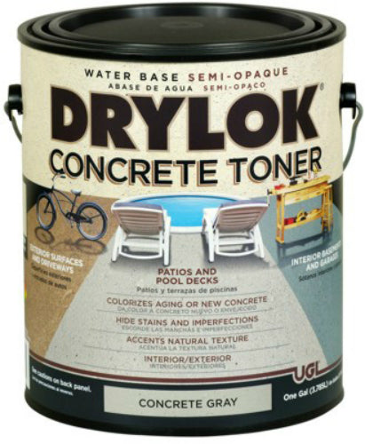 Drylok® 24113 Water Base Semi-Opaque Concrete Toner, 1-Gallon, Gray