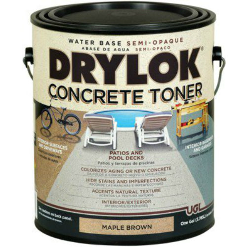 Drylok® 24313 Water Base Semi-Opaque Concrete Toner, 1-Gallon, Maple Brown
