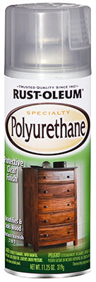 Rust-Oleum 7870830 Specialty Polyurethane Spray, 11.25 Oz, Gloss