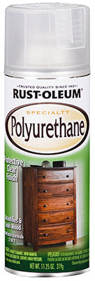 Rust-Oleum 7872830 Specialty Polyurethane Spray, 11.25 Oz, Satin