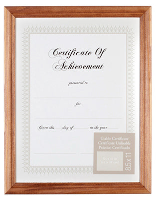 Pinnacle Gallery Solutions™ Document Picture Frame, Metal Oak Finish