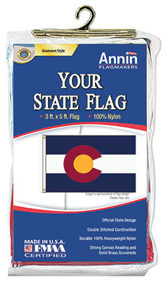 Annin Flagmakers 140660L Colorado State Flag, 3' x 5', Nylon