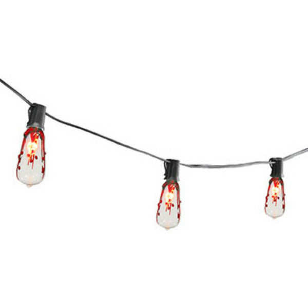 Sylvania V33159-88 Halloween Flickering Edison Style Light Set, 10-Lights