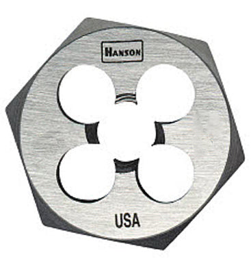 "Irwin Tools 9436 Hanson® Hexagon Machine Screw Die, 3/8"" - 24 NF, 1"""