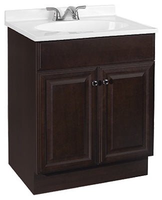 "Continental Cabinets Richmond Vanity Combo, Rich Java, 25"" x 20"" x 35.25"""