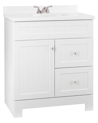 "Continental Cabinets Edgewater Vanity Combo, White, 31""W x 19""D x 38""H"