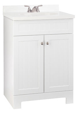 "Continental Cabinets Edgewater Vanity Combo, White, 25"" x 18.5"" x 37.5"""