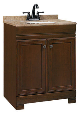 "Continental Cabinets Westbrook Vanity Combo, 25""W x 18.5""D x 35""H"
