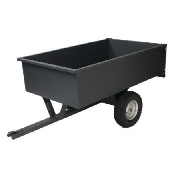 Precision LC1700B Steel Trailer Dump Cart, 17 Cu.Ft., 1500 Lbs Capacity