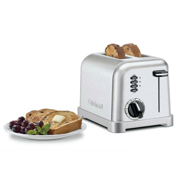 Cuisinart CPT-160 Classic Stainless Steel 2-Slice Metal Toaster, Black/Chrome Finish