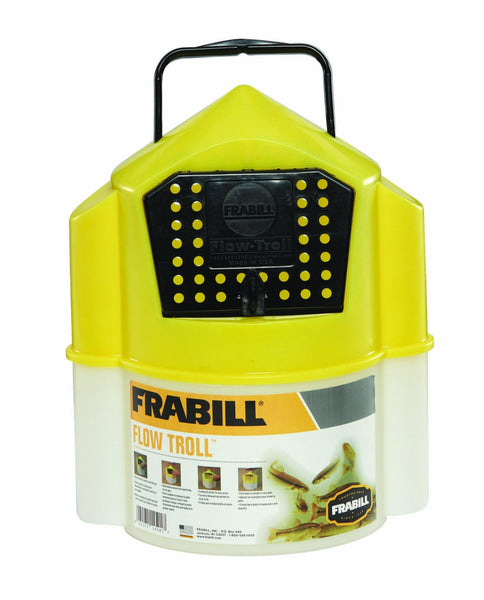 Frabill 4501 Flow Troll® Bait Container, 6 Qt Capacity
