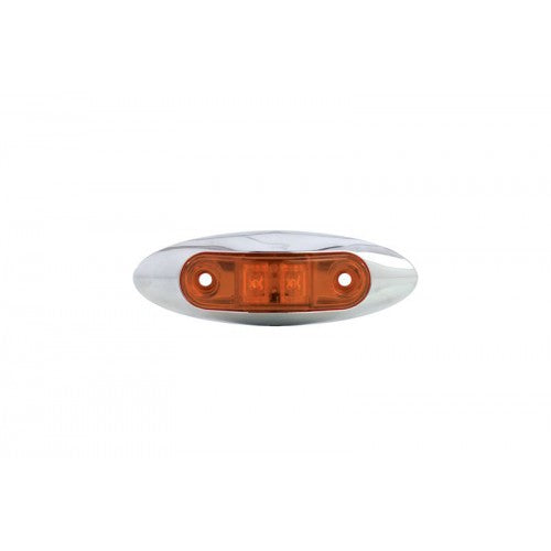 Uriah Products® UL168100 Amber LED Trailer Marker Light with Chrome Bezel