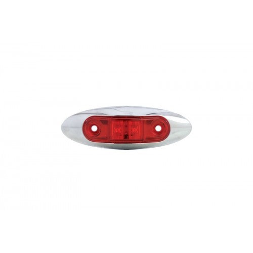 Uriah Products® UL168101 Red LED Trailer Marker Light with Chrome Bezel