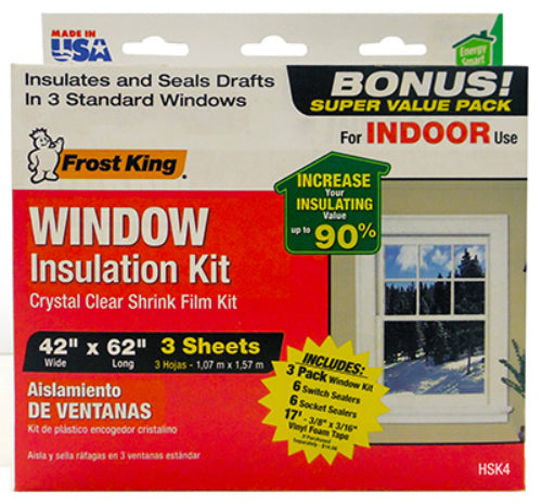 Frost King HSK4 Window Insulation Kit for Indoor Use