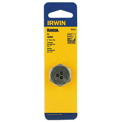 Irwin Tools 9312 Hanson® Hexagon Machine Screw Die, 4-40 NC, 1""