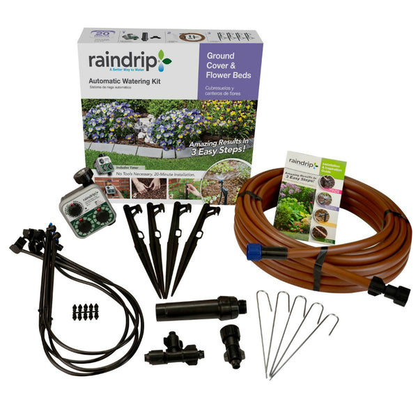 Raindrip® SDGCBHP Ground Cover & Flowerbed Automatic Watering Kit with Timer