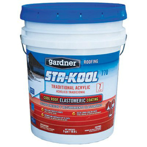 Sta-Kool® SK-7705 Traditional Acrylic Ultra White Elastomeric Roof Coating, 4.75 Gal