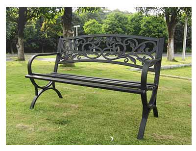 Imperial Power IP-D2923C Steel Park Bench, Cast Iron Backrest & Steel Frame