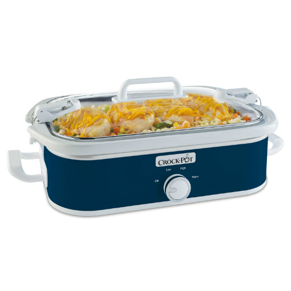 Crock-Pot® SCCPCCM350-BL Casserole Crock™ Slow Cooker, 3.5 Qt, Midnight Blue