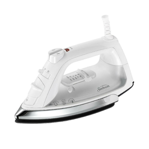 Sunbeam® GCSBCL-317-000 Classic Steam Iron, White & Chrome